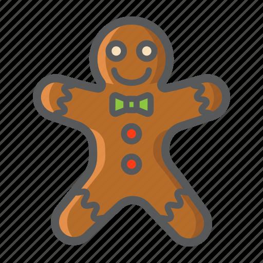 christmas, gingerbread, holiday, man, new year, xmas icon