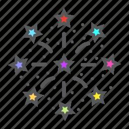 christmas, festival, fireworks, holiday, new year, xmas icon