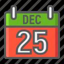 calendar, christmas, december, holiday, new year, xmas