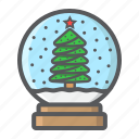 ball, christmas, globe, new year, snow, xmas icon