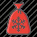 bag, christmas, gift, holiday, new year, santa