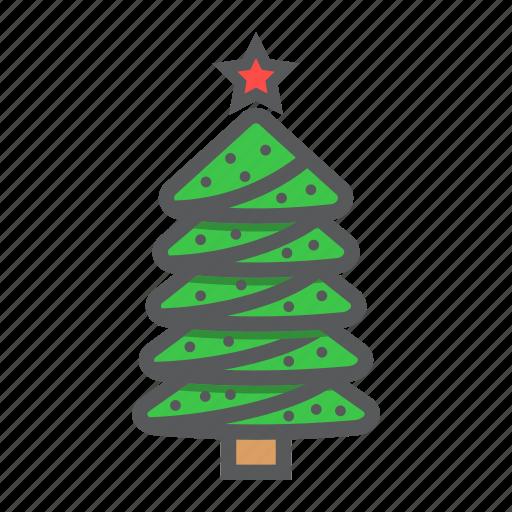 christmas, holiday, new year, star, tree, xmas icon