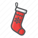 christmas, holiday, new year, sock, stocking, xmas icon