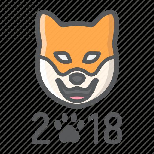 chinese, christmas, dog, holiday, new year, zodiac icon