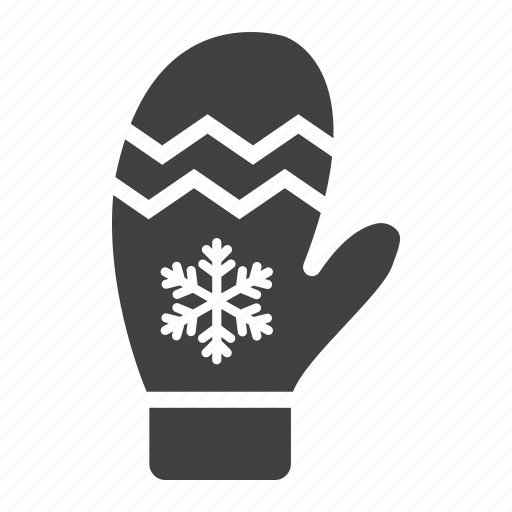 christmas, glove, mitten, new year, winter, xmas icon