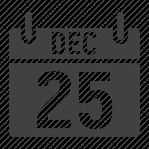 calendar, christmas, december, holiday, new year, xmas icon