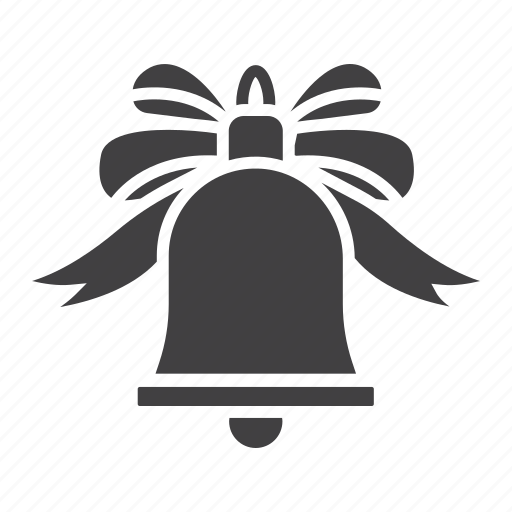 bell, bow, christmas, holiday, new year, xmas icon
