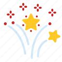 fireworks, holiday, new, year icon