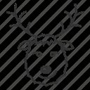 christmas, deer, reindeer, rudolph, santa claus's reindeer, xmas icon