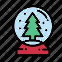 ball, christmas, crystal, snow icon