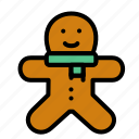 bread, christmas, ginger icon