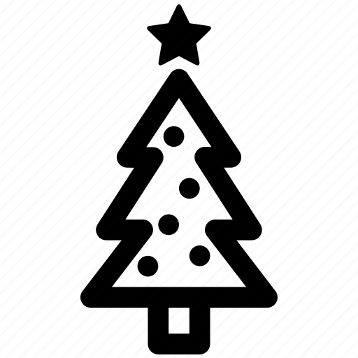 christmas, decorations, holiday, lamps, star, tree, xmas icon