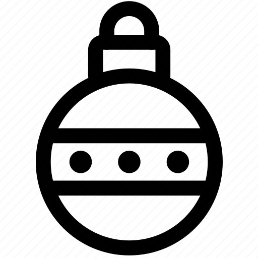 bauble, christmas, decoration, dots, ornament, tree, xmas icon