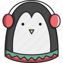 animal, antartica, christmas, cute, penguin icon