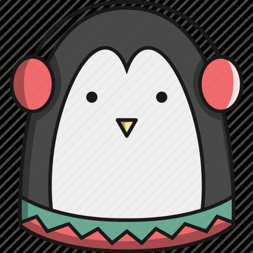 animal, antartica, christmas, cute, penguin icon