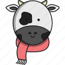animal, christmas, cow, cute, farm icon
