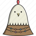 animal, chicken, christmas, cute, farm, pet icon
