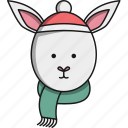 animal, christmas, cute, pet, rabbit icon