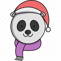 animal, christmas, cute, forest, panda icon