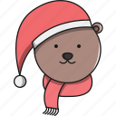animal, bear, christmas, cute, forest icon