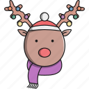 animal, christmas, cute, jungle, reindeer icon