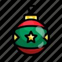 ball, christmas, december, lamp, bulb, xmas, star