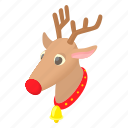 animal, cartoon, christmas, deer, design, holiday, winter icon