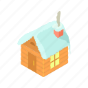 cartoon, cold, home, house, snow, snowy, winter icon