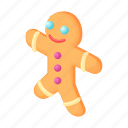 cartoon, christmas, cookie, food, gingerbread, sweet, traditional icon