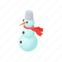 cartoon, christmas, hat, holiday, snow, snowman, winter icon