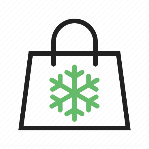 bag, flake, purse, shopping, snow icon