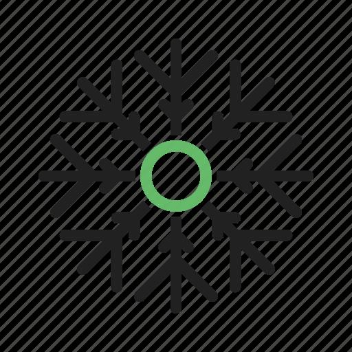 cloud, data, snowflake, technology, warehouse icon