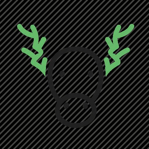 animal, antlers, deer, enormous, moose icon