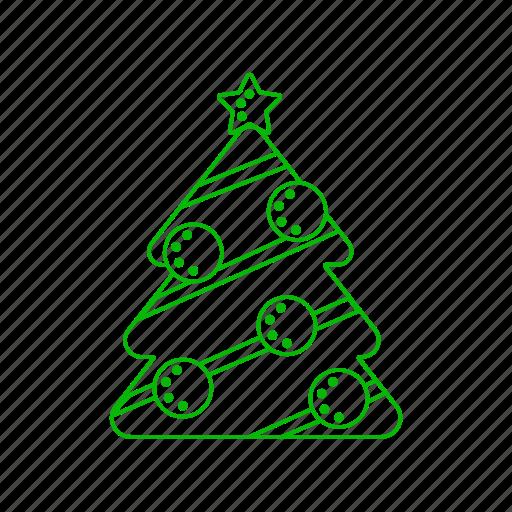 christmas, decoration, globe, star, tree, winter icon