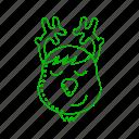 animal, cold, prancer, reindeer, rudolf, winter icon