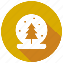 ball, christmas, gift, glass, tree, winter icon
