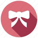 bow, christmas, decoration, festive icon