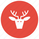 claus, dear, deer, santa, xmas icon