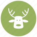 christmas, claus, dear, deer, santa, xmas icon