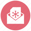 christmas, eml, invitation, letter, message, snowflake, xmas icon