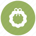 christmas, holidays, wreath icon