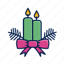 candles, christmas, holidays, xmas icon
