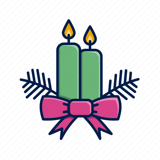 candles, christmas, holidays, xmas icon