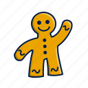 candy, christmas, gingerbread, man, xmas icon