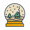 christmas, snow, snowglobe, winter, xmas icon