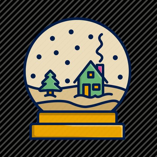 christmas, snow, snowglobe, winter, xmas icon