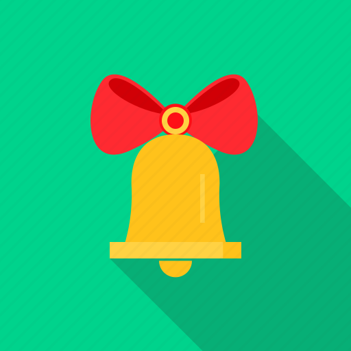 bell, christmas, decoration, holly, xmas icon