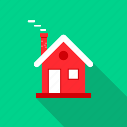 chirstmas, cold, december, home, house, winter icon