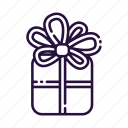christmas, gift box, new year, surprise icon