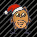 bird, christmas, new year, owl